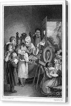 Dames School, 1812 Canvas Print by Granger