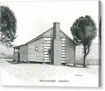 Dan Lawson Cabin Canvas Print by Mark Froehlich