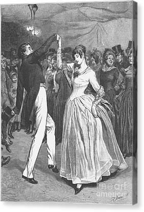 Dance, 19th Century Canvas Print by Granger