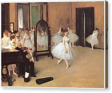 Dance Class Canvas Print by Edgar Degas