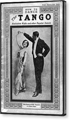 Dance Manual For The Tango, Hesitation Canvas Print by Everett