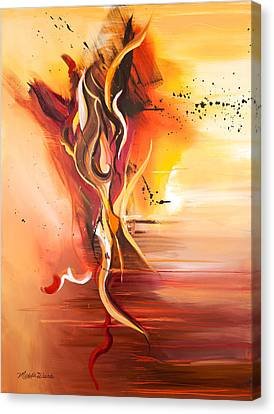 Dance Of Passion Canvas Print by Michelle Wiarda