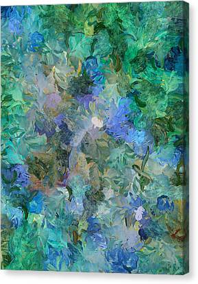 Abstraction Canvas Print - Dance Of The Flowers by Georgiana Romanovna