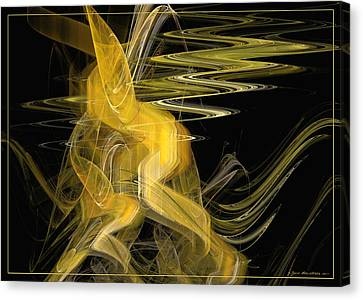 Dance Of Waves Canvas Print by Sipo Liimatainen