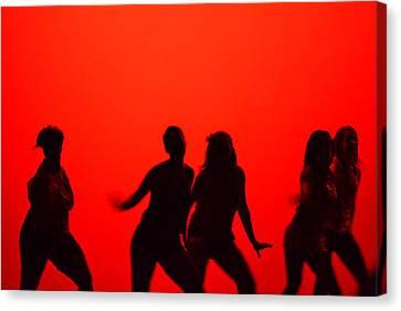 Dance Silhouette Group Canvas Print