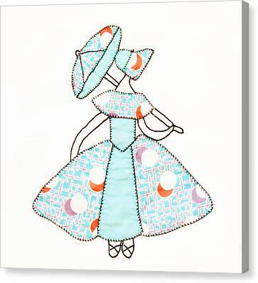Dancer And Parasol 1 Canvas Print