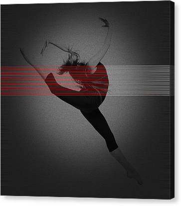 Dancer Canvas Print by Naxart Studio