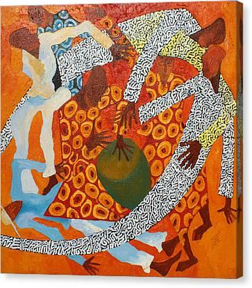 Dancers IIi Canvas Print by Anina von Wachtel Diani Beach Art Gallery