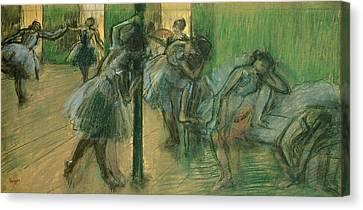 Dancers Rehearsing Canvas Print