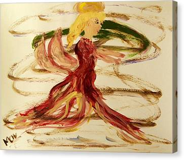 Dancing Angel Canvas Print by Mary Carol Williams