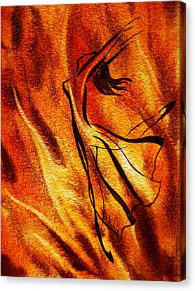 Dancing Fire Vi Canvas Print by Irina Sztukowski