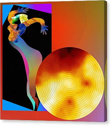 Canvas Print featuring the digital art Dancing In Circle by Asok Mukhopadhyay