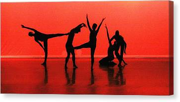Dancing In Red Canvas Print by Kenneth Mucke