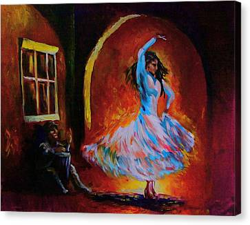 Dancing In The Square Canvas Print by Jerry Frech
