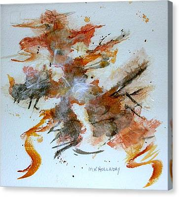 Canvas Print featuring the mixed media Dancing by Mary Kay Holladay