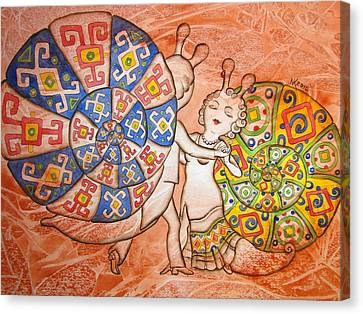 Dancing-master Canvas Print by Khromykh Natalia