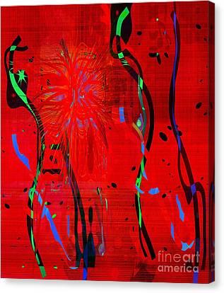 Dancing People Canvas Print by Fania Simon