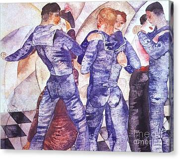 Dancing Sailors Canvas Print by Pg Reproductions