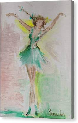 Canvas Print featuring the painting Dance by Laurie Lundquist