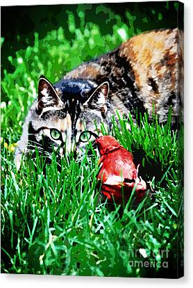 Canvas Print featuring the photograph Dangerous Friends by Laura Brightwood