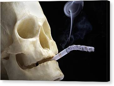 Dangers Of Smoking, Conceptual Image Canvas Print by Victor De Schwanberg