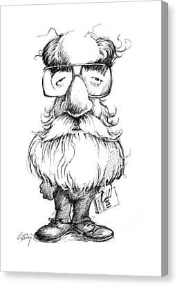 Daniel Dennett, Us Cognitive Scientist Canvas Print by Gary Brown