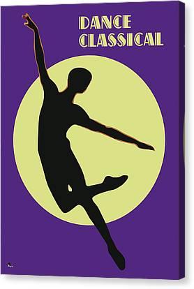 Classical Dancer Canvas Print by Joaquin Abella