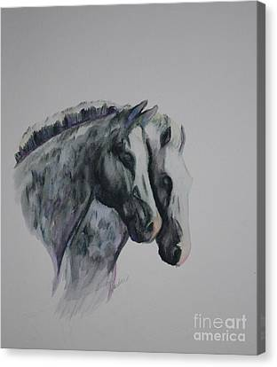 Dapple Duo Canvas Print by Susan Herber