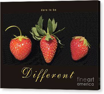 Dare To Be Different Canvas Print by Patricia Overmoyer