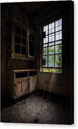 Dark And Empty Cabinets Canvas Print by Gary Heller