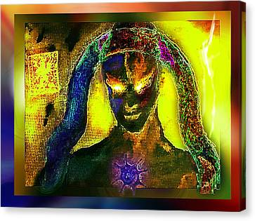 Canvas Print featuring the digital art Dark Angel by Hartmut Jager