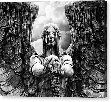 Dark Angel Warrior Canvas Print by Anne Raczkowski