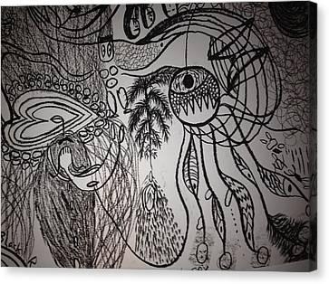 Dark City Love Canvas Print by Ivy T Flanders
