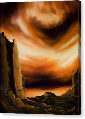 Dark Columns Canvas Print by James Christopher Hill