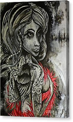 Dark Inked Icon Canvas Print
