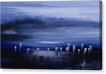 Canvas Print featuring the painting Dark Mist by Eleonora Perlic