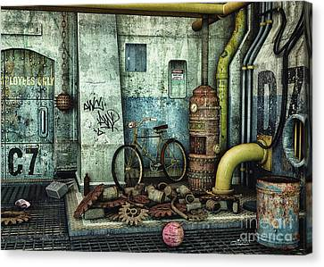 Dark Places Tell Stories Canvas Print by Jutta Maria Pusl