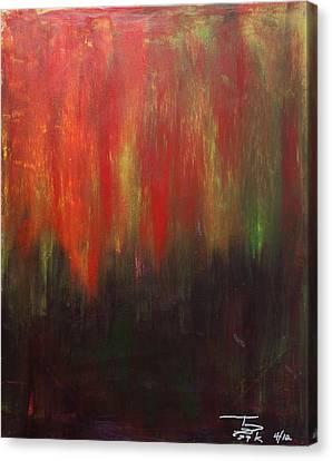 Dark Rising  Canvas Print by Terrance Prysiazniuk