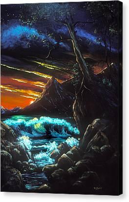 Dark Shores Canvas Print