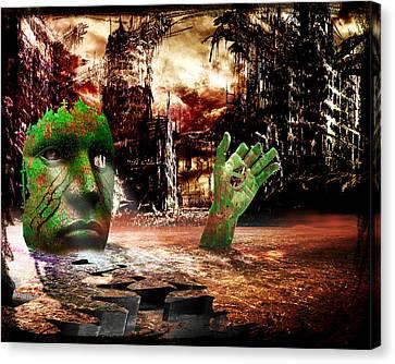 Dark Worlds 2 Canvas Print by Wendy White