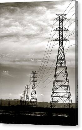 Canvas Print featuring the photograph Darkening Sky by Bob Wall