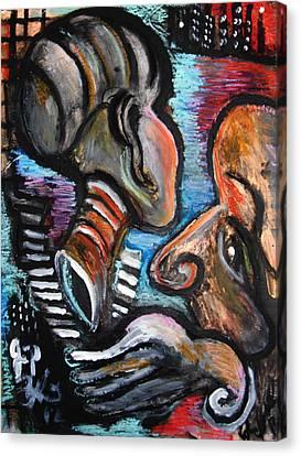 Darkness Dares My Eyes To Close  Canvas Print by Jon Baldwin  Art