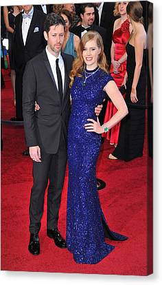 Darren Legallo, Amy Adams At Arrivals Canvas Print by Everett