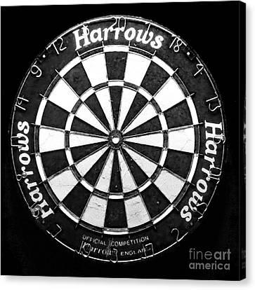 Dartboard Canvas Print by Patricia Januszkiewicz