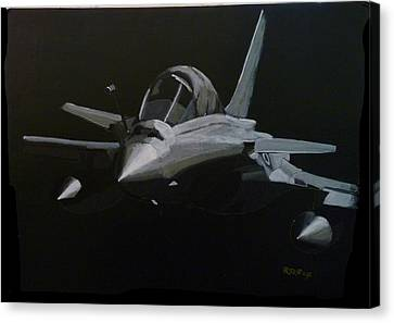 Canvas Print featuring the painting Dassault Rafale by Richard Le Page