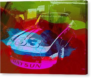 Racing Car Canvas Print - Datsun by Naxart Studio