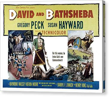 David And Bathsheba, Gregory Peck Canvas Print by Everett