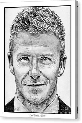 David Beckham In 2009 Canvas Print by J McCombie