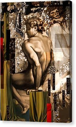 David Et Julie Canvas Print by Karine Percheron-Daniels