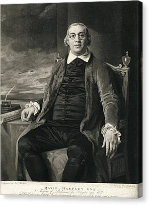 David Hartley, English Diplomat Canvas Print by Humanities & Social Sciences Librarynew York Public Library